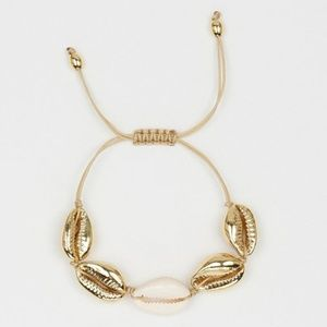 5 for $25 Gold Sea Shell Adjustable Bracelet